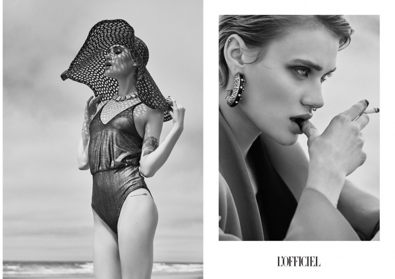 photography: Marie Schmidt | hair & make-up: Bea Soma | model: Nicole Gregorczuk  | usage: L'Officiel Brasil, L'Officiel Baltic